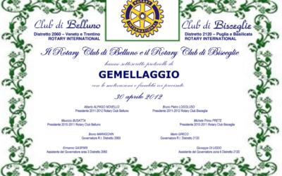 Gemellaggio con il Rotary Club di Bisceglie