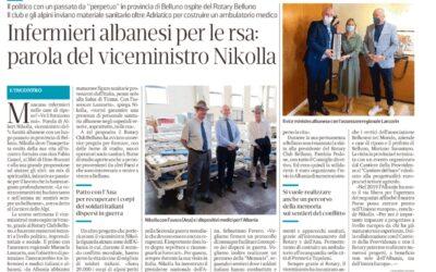 Infermieri albanesi per le rsa: parola del viceministro Nikolla