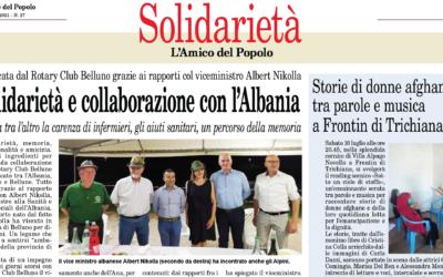 Solidarietà e collaborazione con l'Albania