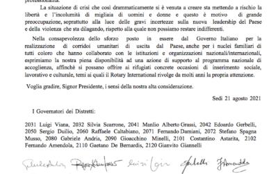 Rotary Italia per l'Afghanistan. Presente anche il Club di Belluno