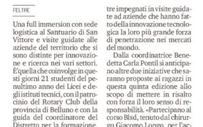 Stage e visite in azienda per 21 liceali con base a San Vittore